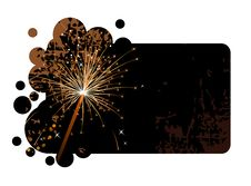 Free Black Banner With Realistic Firecracker Royalty Free Stock Image - 20987346