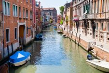 Free Canal, Boats And Bridge In Venice Stock Photo - 20987470