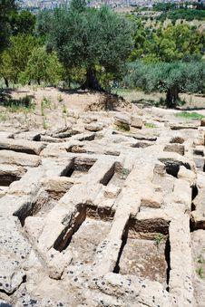 Free Antique Roman Tombs Stock Image - 20987541