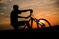 Free Sunset In The Wheel Stock Photos - 20987583