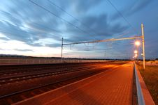 Free Railway At Dusk Stock Photography - 20988242