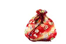 Small Red Bag For Presents Royalty Free Stock Photo