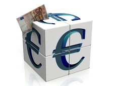 Free Cube With Euro Royalty Free Stock Photos - 20988688