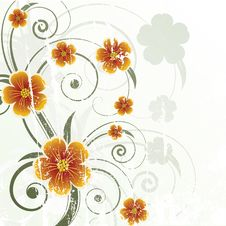 Free Floral Design. Vector Illustration Royalty Free Stock Photo - 20989595