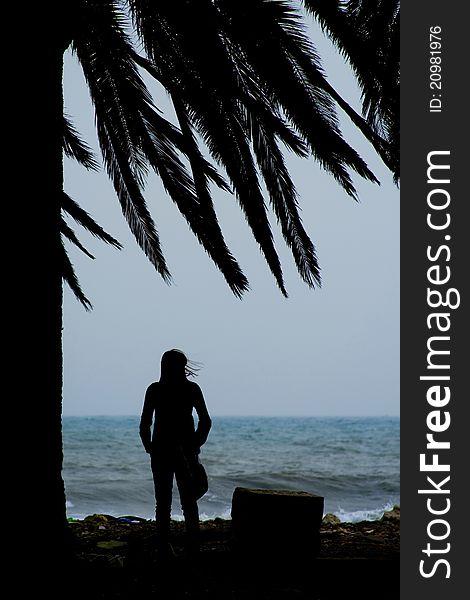 Girl watching the sea