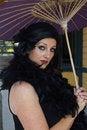 Free Retro Woman At Train Depot Holding Umbrella Royalty Free Stock Photography - 20996067