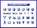 Free Popular Web Icons Links Stock Photography - 20996812