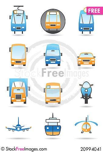 Free Different Transportation Mashines Stock Image - 20994041