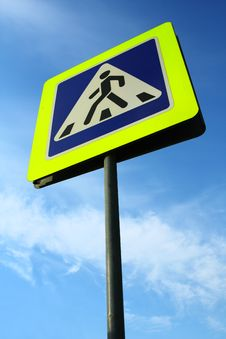 Free Pedestrian Crossing Sign Stock Images - 20990584