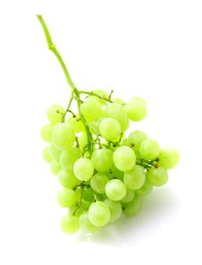 Free Green Grape Bunch Isolated On White Stock Images - 20990704