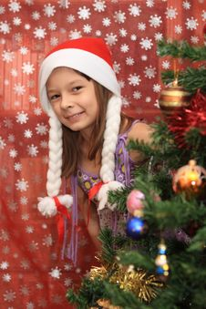 Free The Girl In Cristmas Stock Image - 20991511