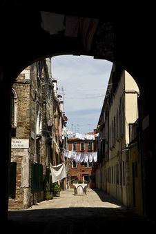 Free Street In Venice Stock Photography - 20991612