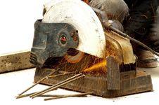 Free Worker Cutting Steel Stock Photo - 20991770