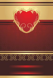 Free Decorative Red Heart On The Background Stock Image - 20992291