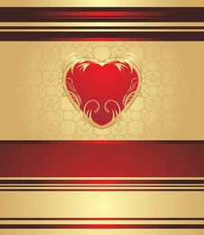 Free Red Heart On The Decorative Background Stock Photo - 20992300