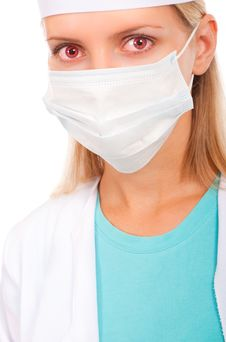 Free Face Of A Young Doctor In A Protective Mask Royalty Free Stock Photography - 20992367