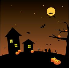 Free Halloween Full Moon Background Royalty Free Stock Photo - 20992685