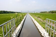 Free Irrigation Canal Royalty Free Stock Photos - 20992708
