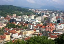 Free Ljubljana From Above Stock Images - 20992764