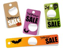 Free Sale Halloween Lables Royalty Free Stock Photo - 20992925