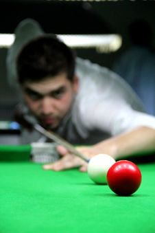 Free Playing Snooker Stock Photography - 20993232