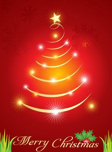 Free Abstract  Christmas Tree With Sparkle Royalty Free Stock Images - 20993369