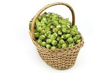 Free A Wattled Basket Full Of Hazelnuts Royalty Free Stock Images - 20994679