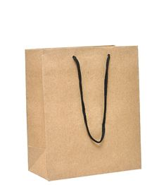 Free Shopping Bag Made From Brown Recycled Paper Stock Image - 20995141