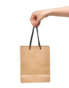 Free Hand With Shopping Bag Royalty Free Stock Photos - 20995168