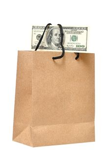 It S Money In The Bag Royalty Free Stock Photos