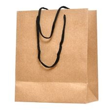 Free Shopping Bag Made From Brown Recycled Paper Royalty Free Stock Photo - 20995235