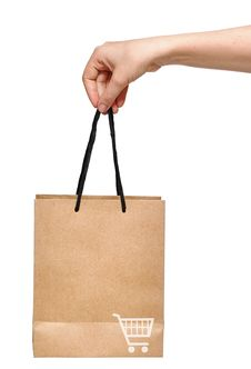 Free Hand With Shopping Bag Royalty Free Stock Image - 20995426