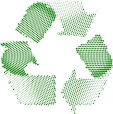 Green Recycle Symbol Halftone Stock Image
