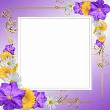 Free Decorative Flowers Frame Stock Photography - 20995732