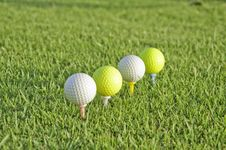 Free Four Balls Of Golf. Stock Photos - 20995843