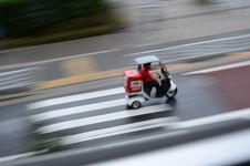 Free Tokyo Rain Pizza Delivery Stock Photography - 20996242