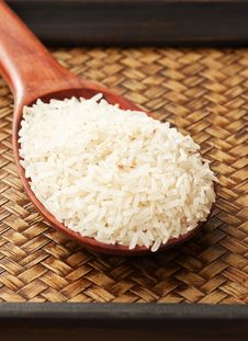 Free Color Raw Rice In Spoon Stock Photo - 20996540