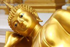Free Reclining Buddha Image Royalty Free Stock Photography - 20996707