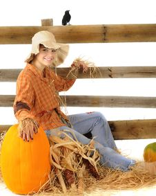 Free Happy Autumn Scarecrow Stock Photos - 20996993