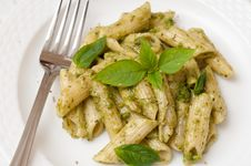 Pesto Macaroni Royalty Free Stock Images