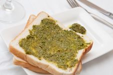 Italian Pesto Toast Royalty Free Stock Images
