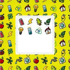 Free Cartoon Eco Card Stock Photography - 20997222