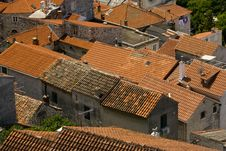 Free Red Tile Roofs In The Old Part Of The Town Royalty Free Stock Photo - 20998255