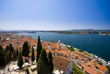 Free Panorama Of Old Town Sibenik, St.James And The Cha Stock Image - 20998281