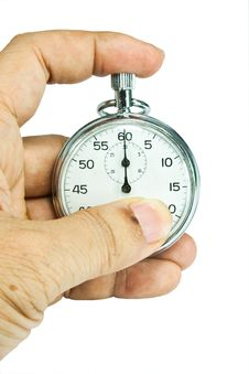 Free Stop-watch In A Hand Stock Photography - 20998302