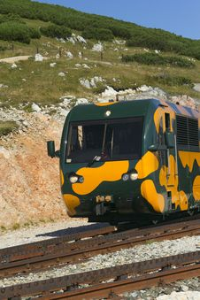 Mountain Railway Locomotive Royalty Free Stock Photos
