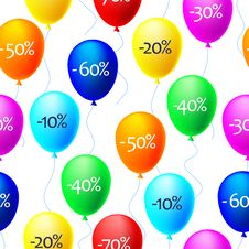 Free Vector Background Of Balloons With Sale Discounts Stock Images - 20998504