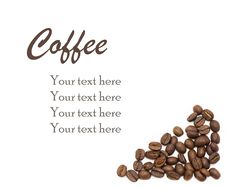 Free White Background With Coffee Beans And Sample Text Royalty Free Stock Photos - 20998538