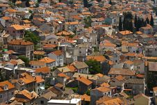 Picturesque View On Sibenik Roofs Stock Photography