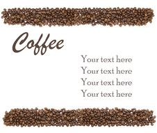 Free White Background With Coffee Beans And Sample Text Royalty Free Stock Images - 20998659